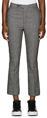 R 13 Women's Skinny Kick Flare Houndstooth Wool Trousers