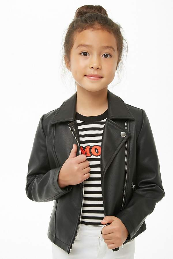 Forever 21 Girls Faux Leather Jacket (Kids)