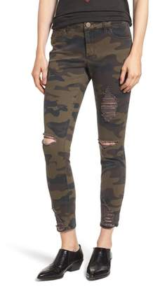 Tinsel Ripped Camouflage Skinny Jeans