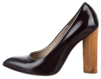 Saint Laurent Leather Pointed-Toe Pumps