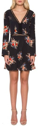Women's Willow & Clay Floral Open Stitch Minidress $89 thestylecure.com