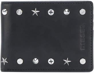 Diesel front embossed logo wallet