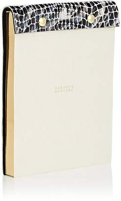 Barneys New York Mosaic-Embossed Leather-Bound Notepad