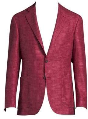 Canali Regular-Fit Silk-Cashmere Blazer