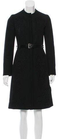 pradaPrada Belted Wool Coat