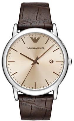 Emporio Armani Three-Hand Luigi Dress Strap Watch