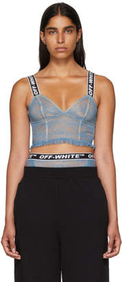 Off-White Blue Lace Lingerie Set