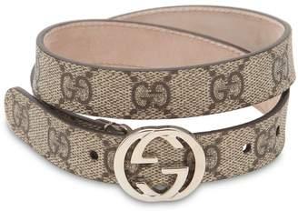 Gucci Supreme Logo Print Belt