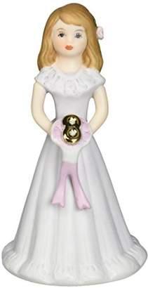 "Enesco Growing Up Girls ""Brunette Age 8"" Porcelain Figurine"