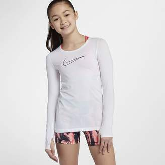 Nike Pro Big Kids' (Girls') Long Sleeve Top