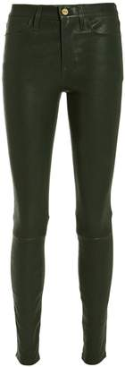 Frame Le Skinny High Rise Leather Pants