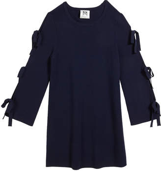 Milly Tie-Sleeve Knit Shift Dress Size 7-16