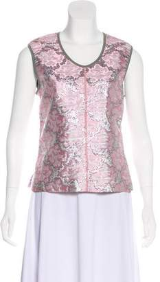 Prada Brocade Sleeveless Top