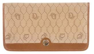 Christian Dior Canvas & Leather Wallet