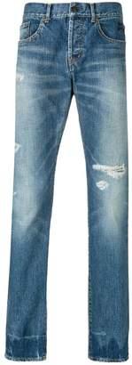 Saint Laurent faded denim jeans