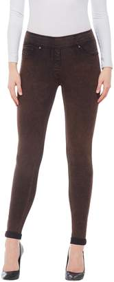 Nygard SLIMS Nygard Women's Petite Slims LUXE DENIM SLIMS Acid Wash Skinny Cuff Jeans Tobacco