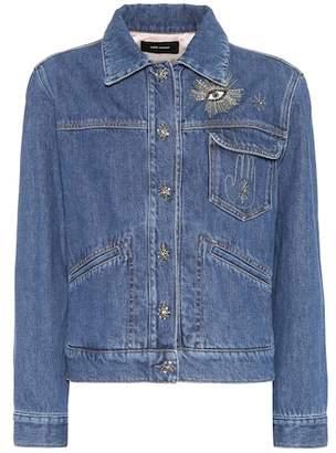Ensley embellished denim jacket