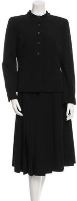 Chanel Two-Piece Wool Skirt Suit $795 thestylecure.com