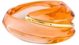 Baccarat 18K Peach Crystal Ring