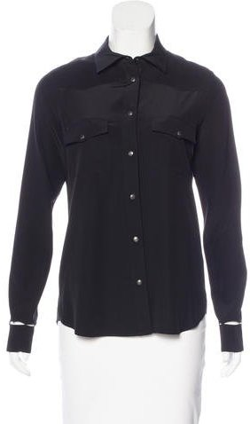 Tom Ford Silk Cutout Blouse