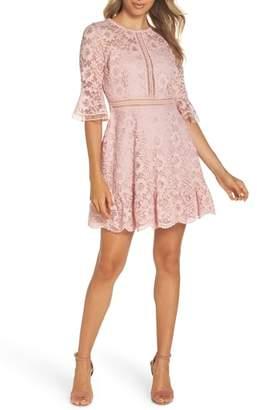 BB Dakota Love on Top Floral Lace Dress