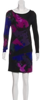Tibi Printed Long Sleeve Dress