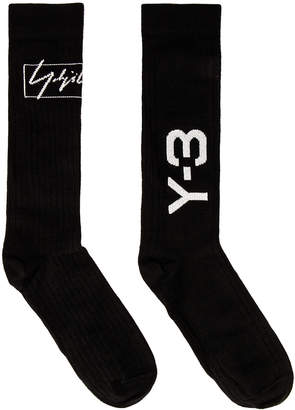 Yohji Yamamoto Y 3 Y-3 WO NYL Sock in Black   FWRD