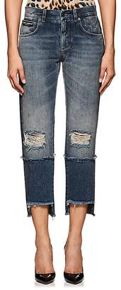 Dolce & Gabbana Women's Logo Distressed Crop Jeans