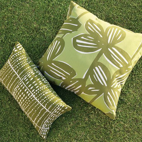 Jungle Flower Outdoor Pillow