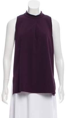 Theory Mock Neck Sleeveless Blouse