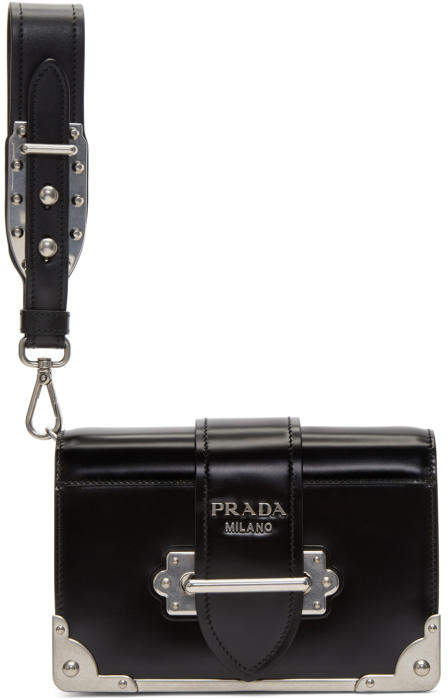 Prada Black Cahier Clutch