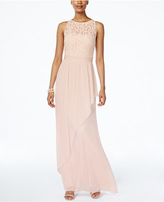 Adrianna Papell Lace Illusion Halter Gown $179 thestylecure.com