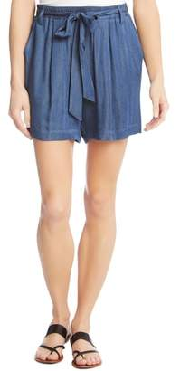 Karen Kane Belted Chambray Shorts