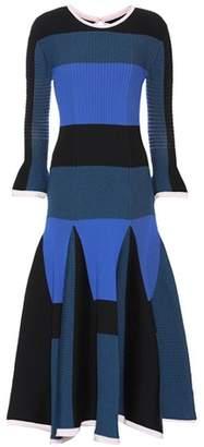 Ribbed wool-blend dress
