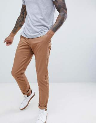 Farah Elm Slim Fit Chino in Camel