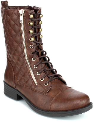 Brown Quilted Sammy Boot $39 thestylecure.com