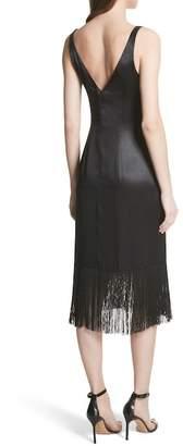 Tracy Reese Fringe Silk Midi Dress