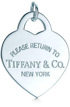 Tiffany & Co. Return to TiffanyTM heart tag charm in sterling silver, extra large