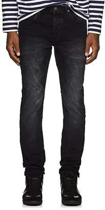 Purple Men's Distressed Skinny Jeans