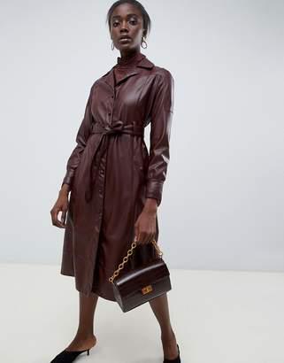 Asos PU leather midi dress