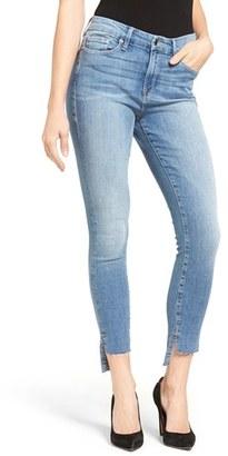 Women's Good American Good Legs Raw Step Hem Skinny Jeans $169 thestylecure.com