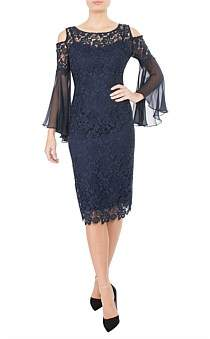 Anthea Crawford Midnight Cold Shoulder Dress