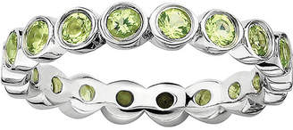 JCPenney FINE JEWELRY Personally Stackable Genuine Peridot Sterling Silver Eternity Ring