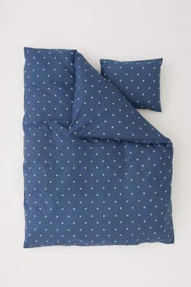 H&M Star-print Duvet Cover Set - Blue