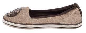 Tory Burch Woven Round-Toe Flats