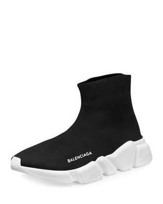 Balenciaga Stretch-Mesh High-Top Sneaker, Noir $545 thestylecure.com