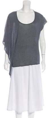 Helmut Lang Asymmetrical Short Sleeve T-Shirt