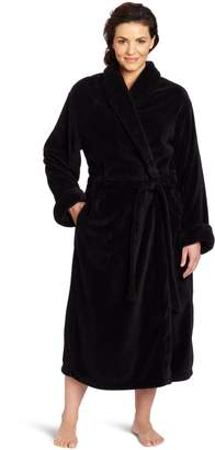 Casual Moments Women's Plus-Size 50 Inch Set-In Belt Robe