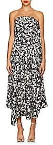 Derek Lam Women's Floral Silk Jacquard Strapless Dress - Black Multi