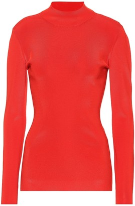 Victoria Beckham Stretch knit mockneck top